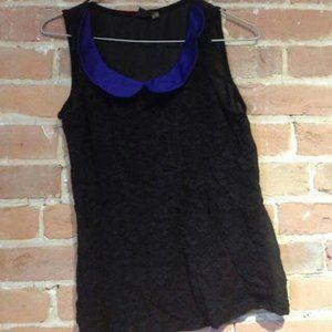 Lacey top + black cardigan